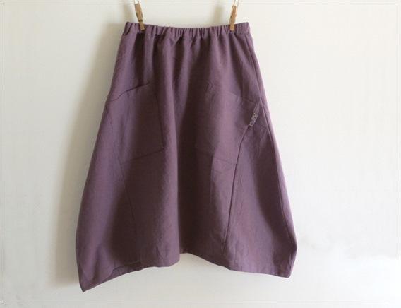 purple* ヘムライン バルーンスカート+リバティ