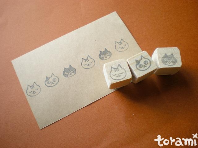 猫の顔のはんこセット38