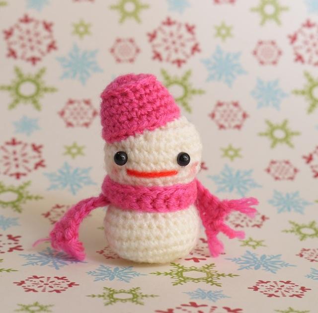 雪だるまさん(濃ピンク)