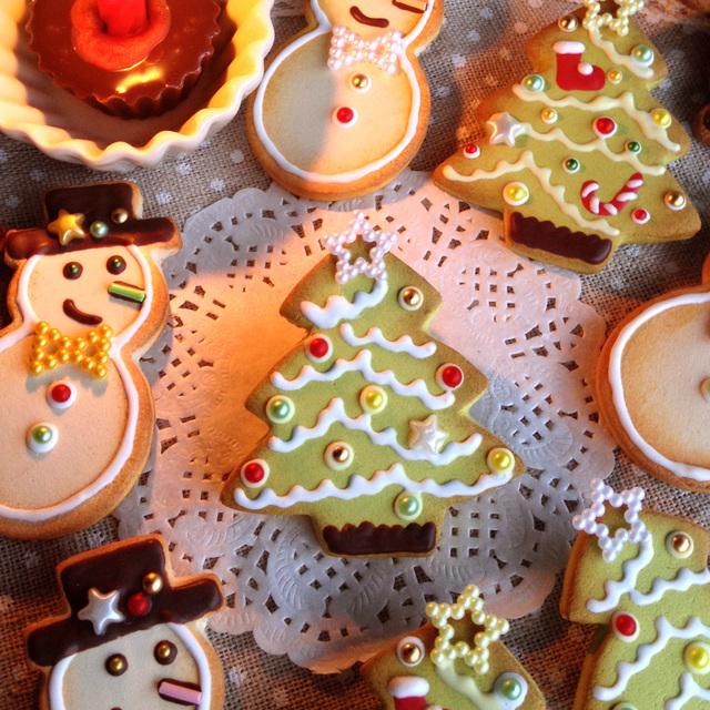 シンプルツリーの クッキーのブローチ【通販限定】