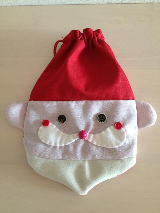 サンタさんの巾着