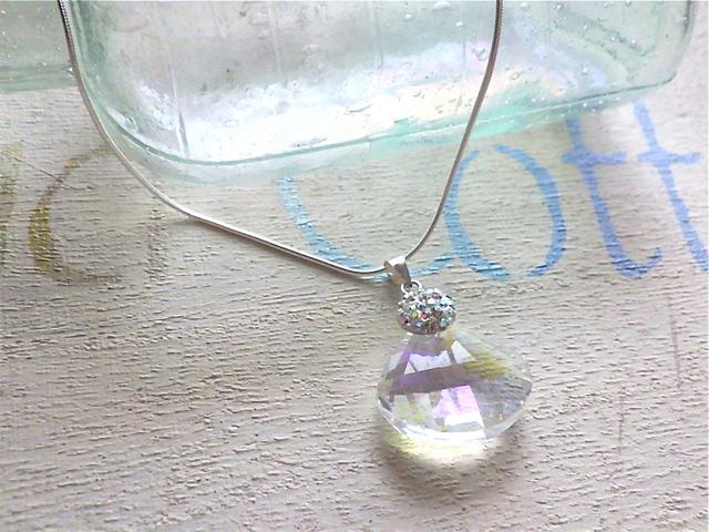 人魚の貝殻 クリスタルネックレス*SV925*