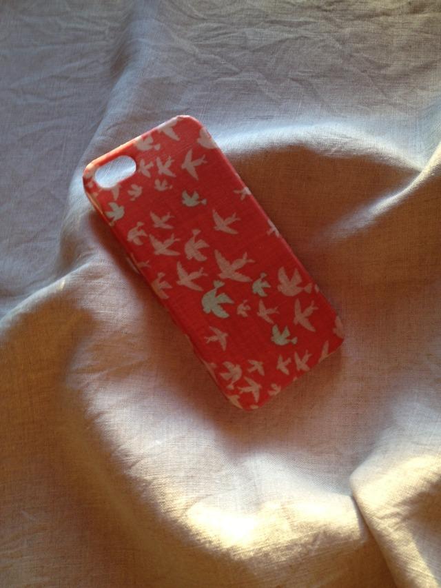 布張り iphoneケース iphoneSE, 5/5s(バード あかね)