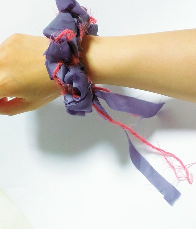 糸?布シュシュ #3【受注生産】