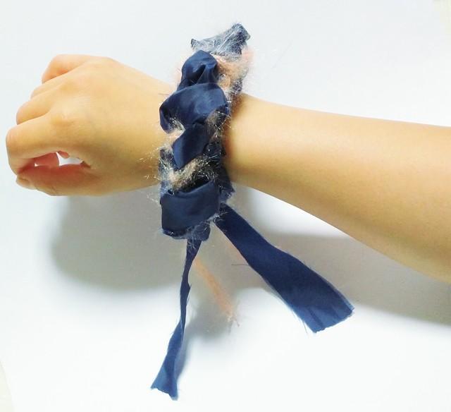 糸?布シュシュ #5【受注生産】