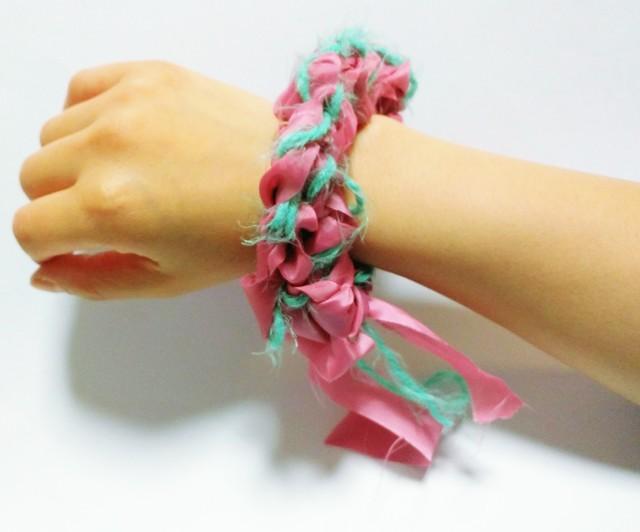 糸?布シュシュ #6【受注生産】