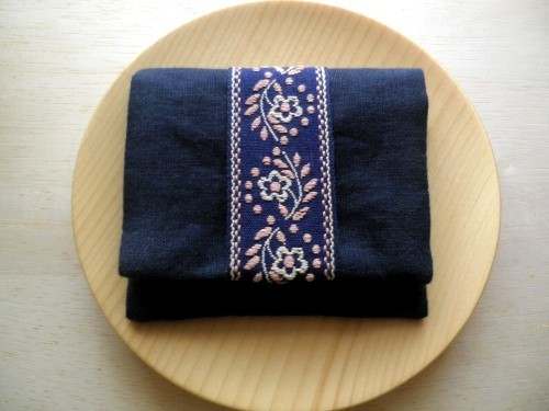 mini  purse pouch ( navy blue )