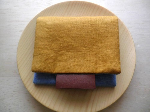 mini  purse pouch ( mustard&light blue )