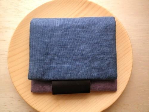 mini  purse pouch ( blue&lavender )
