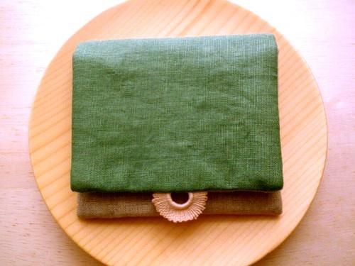 mini  purse pouch ( green&lace )