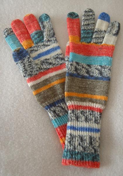 手編み5本指手袋 No.9