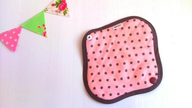 可愛い布ナプキン〜ピンクに茶色ドット〜おりものライナー