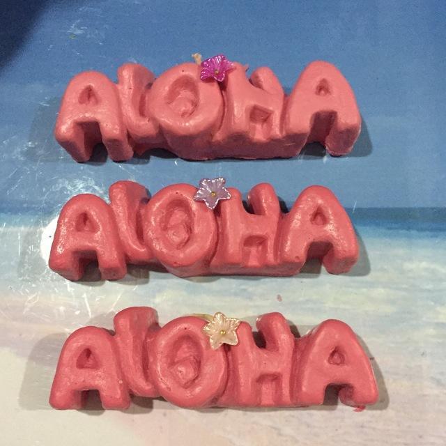 ALOHA (アロハ)型抜きキャンドル