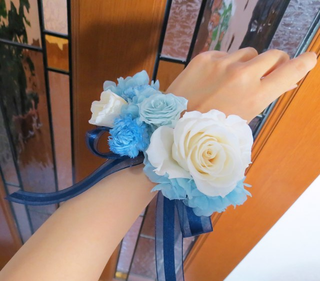 プリザ*リストレット ブルー×ホワイト