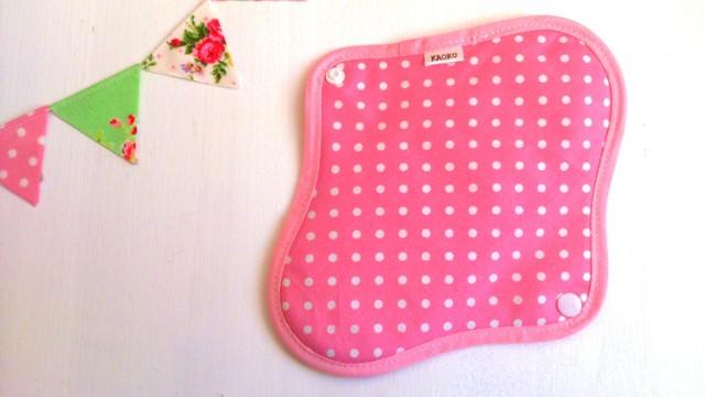 可愛い布ナプキン『ピンクドット』昼用Mサイズ