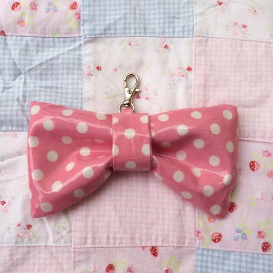 リボン型キーケース*ピンク