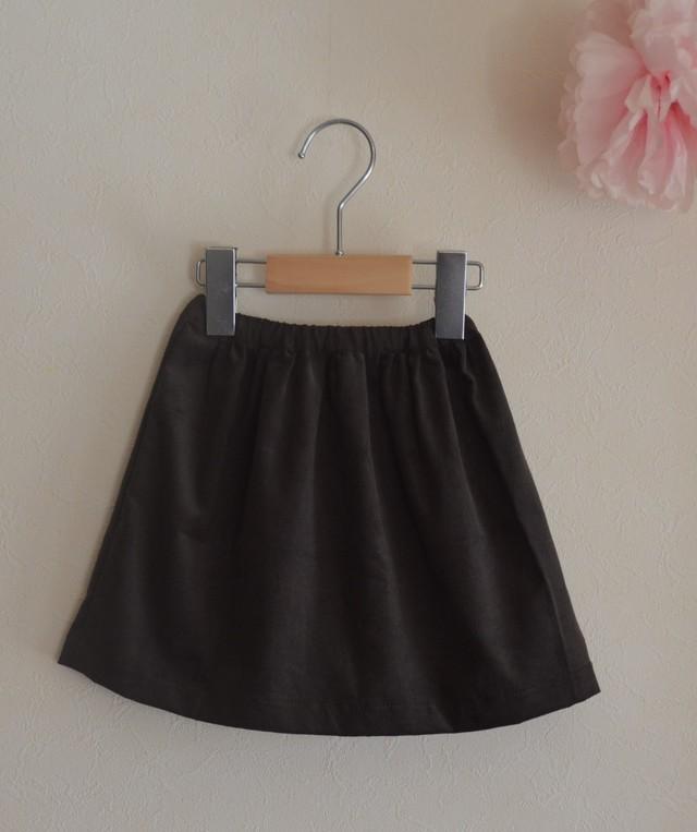 90-100サイズ ただただシンプルなベビースカート チャコールブラウン