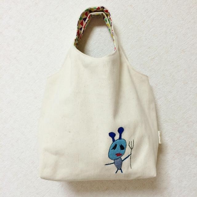 おさんぽバッグ グラニートート(キナリ) 【アクマ】