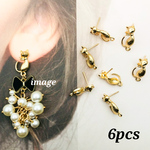 【knz4065psgr】【6個】antique style cat pierce parts