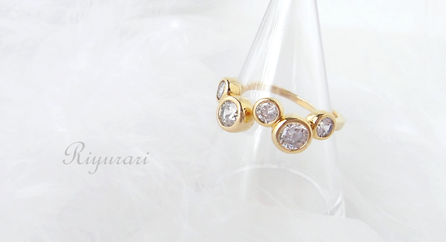 Bubble-cz Ring