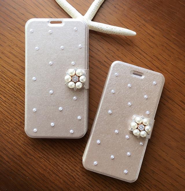 【人気パールいっぱい】スマホカバーゴールド iphone5S/iphone5C/iphoneSE/iphone6/iphone6S/iphone7