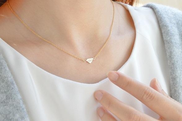 ダイヤモチーフのネックレス