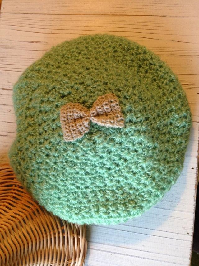 キッズベレー帽 リボンモチーフ