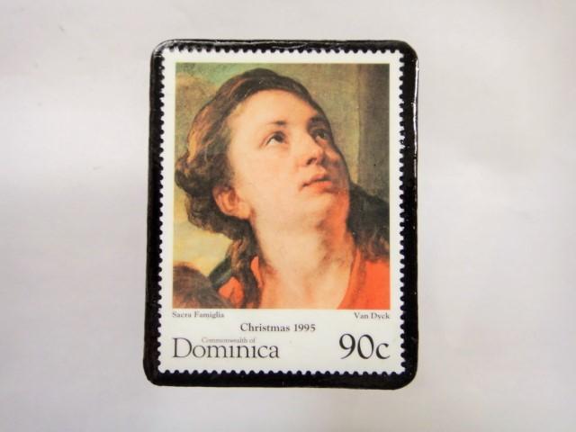 ドミニカ クリスマス切手ブローチ337