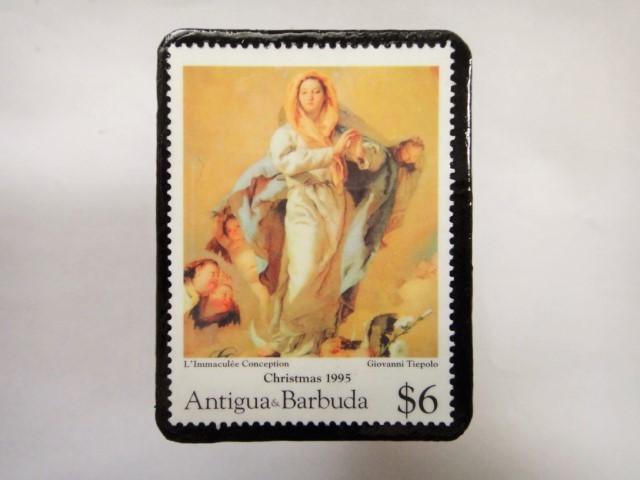 ドミニカ クリスマス切手ブローチ338