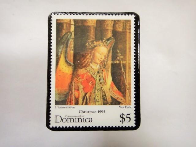 ドミニカ クリスマス切手ブローチ339