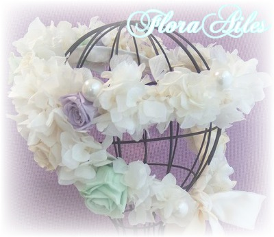 ウェディングに華やかな花冠 ホワイト#1再販【オーダー承ります】