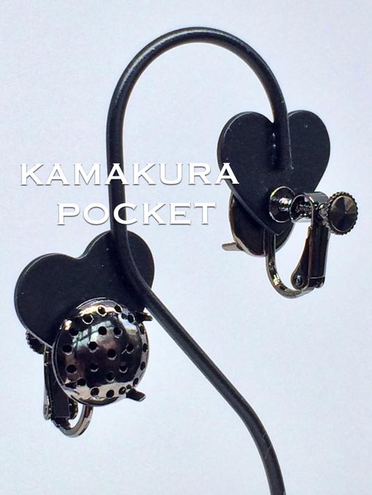 シャワー台:イヤリング(12mm)/ガンメタ 1セット入<3>
