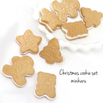 🎄8pcs)Christmas cookie cabochon