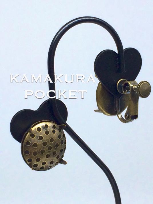 シャワー台:イヤリング(14mm)/金古美 1セット入<5>