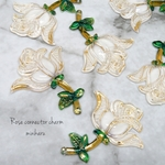 white(6pcs)Rose connector charm