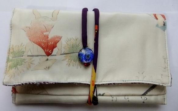 着物リメイク 羽織の裏地で作った和風財布 808