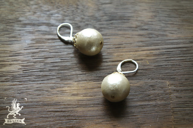再販  pierce 【 コットンパールピアス 】