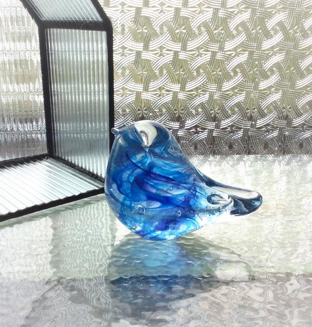 ブルーパープルの小鳥 h