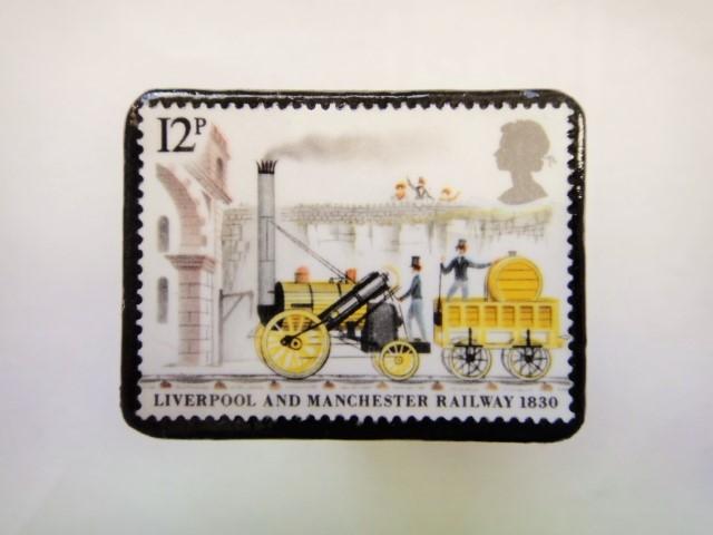 イギリス 切手ブローチ362