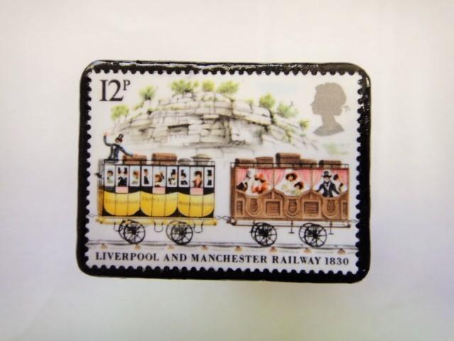 イギリス 切手ブローチ363