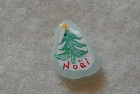 シーグラスアート クリスマスツリーグリーン ミンネのクリスマス2015