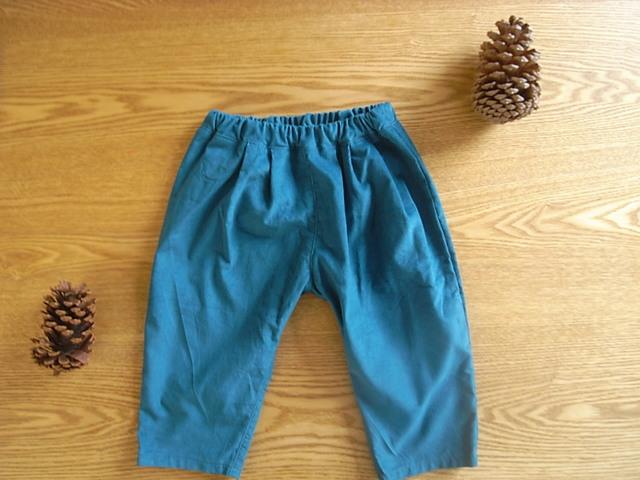 コーデュロイタックパンツ(ブルーグリーン)*90サイズ