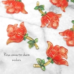 red(6pcs)Rose connector charm