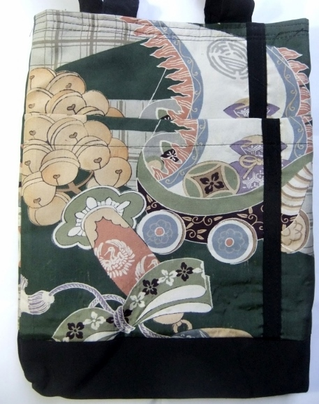 着物リメイク 男の子のお宮参り着で作った手提げ袋 816