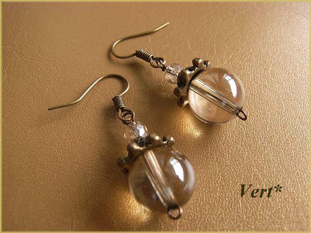 Vert* シャンパンオーラピアス
