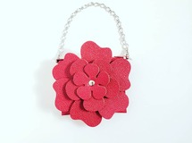 leather flower case 『red』