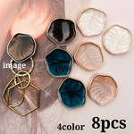【cbtt4070acrc】【4color 8pcs】deformation marble cabochon