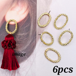 【knz4073psgr】【6個】  grain oval ring  pierce parts