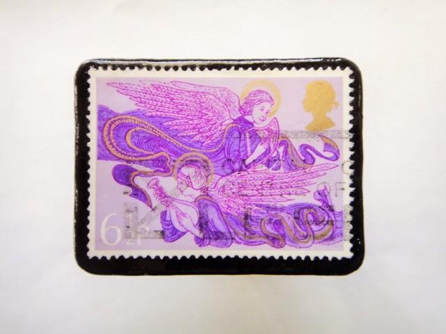 イギリス クリスマス切手ブローチ364