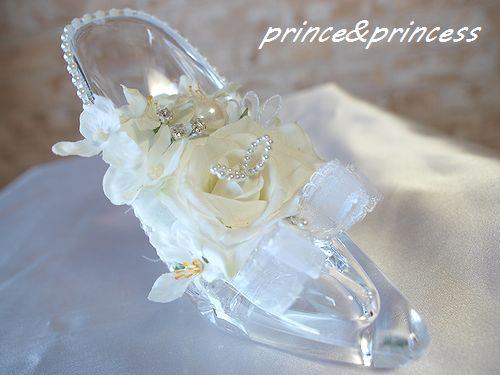 シンデレラ*ガラスの靴のウエディングピロー*